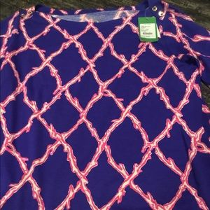 Tops - New Lilly Pulitzer lattice Top XL. New with tags.